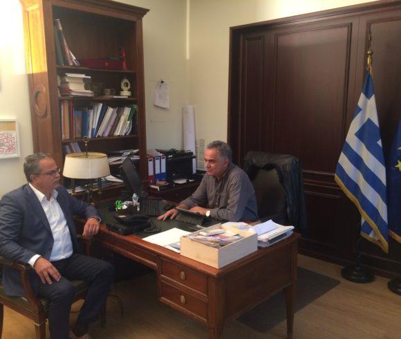 Συνάντηση Δημάρχου  Πλατανιά  με τον Υπουργό Εσωτερικών
