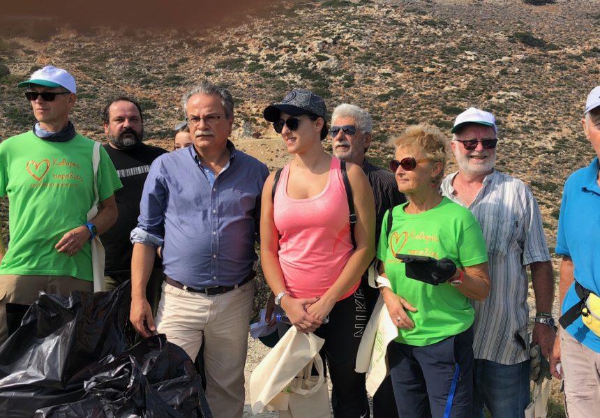 Εθελοντική Καθαριότητα παραλίας ΤΚ Αφράτων  στο Δήμο Πλατανιά