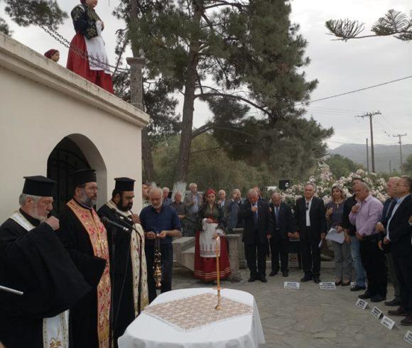 Εκδήλωση Τιμής Και Μνήμης Από Το Δήμο Πλατανιά  Στο Μνημείο Πεσόντων Κερίτη Στον Αλικιανό