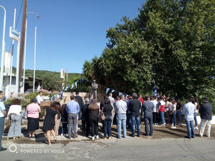 Εκδήλωση τιμής και μνήμης στο μνημείο Λαζόπουλου στις Βουκολιές, από το Δήμο Πλατανιά