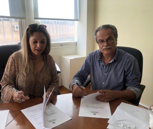 """Υπογραφή Σύμβασης Έργου"""" Αποπεράτωσης κατασκευής  κτιρίου πολλαπλών χρήσεων  στην Τ.Κ.Πολεμαρχίου"""" του  Δήμου Πλατανιά"""